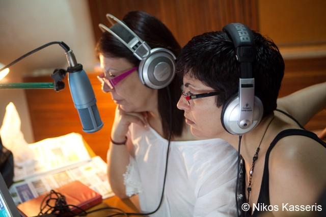 Πρωινή εκπομπή στο στούντιο της ΕΡΑ. Μαριέττα Γαβριλιώτη και Χριστίνα Μέγα